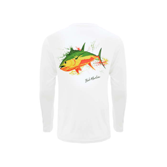 UPF 50 Long Sleeve Shirt Fishing hook Tuna Fin sun protection fishing boats swim